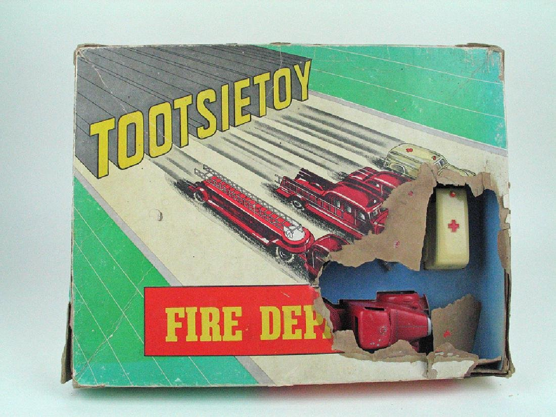 Tootsietoy Fire Dept In Box