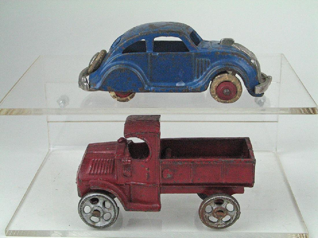 Hubley Cast Iron Chrysler Airflow & Stake Truck Lot