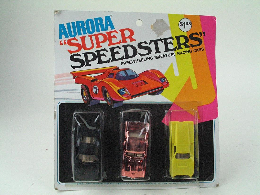 Aurora Super Speedsters Car Set MIB