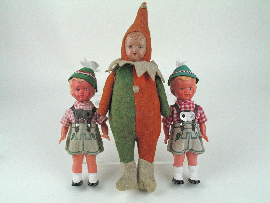 German Celluloid Wind Up Doll Lot