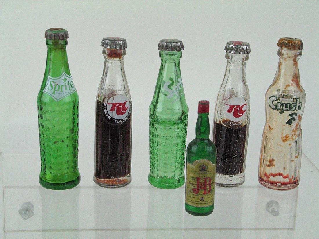 RC Cola, Sprite Orange Cruch Mini Soda Bottle Lot