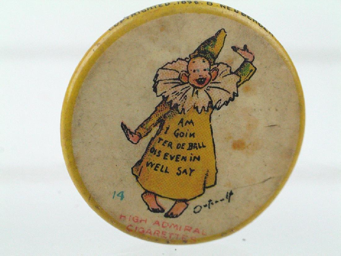 Yellow Kid High Admiral Cigarette Ad Pinback 1896