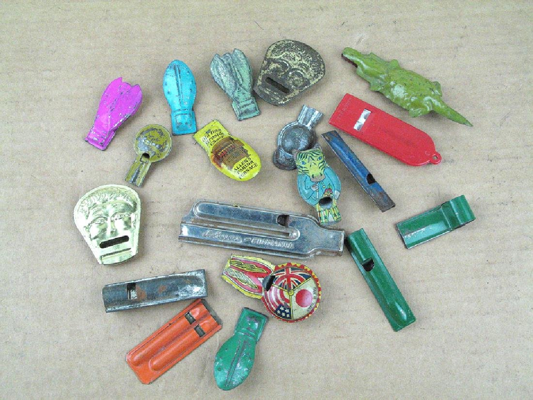 Tin Whistle Novelty Lot 1930s Clickers