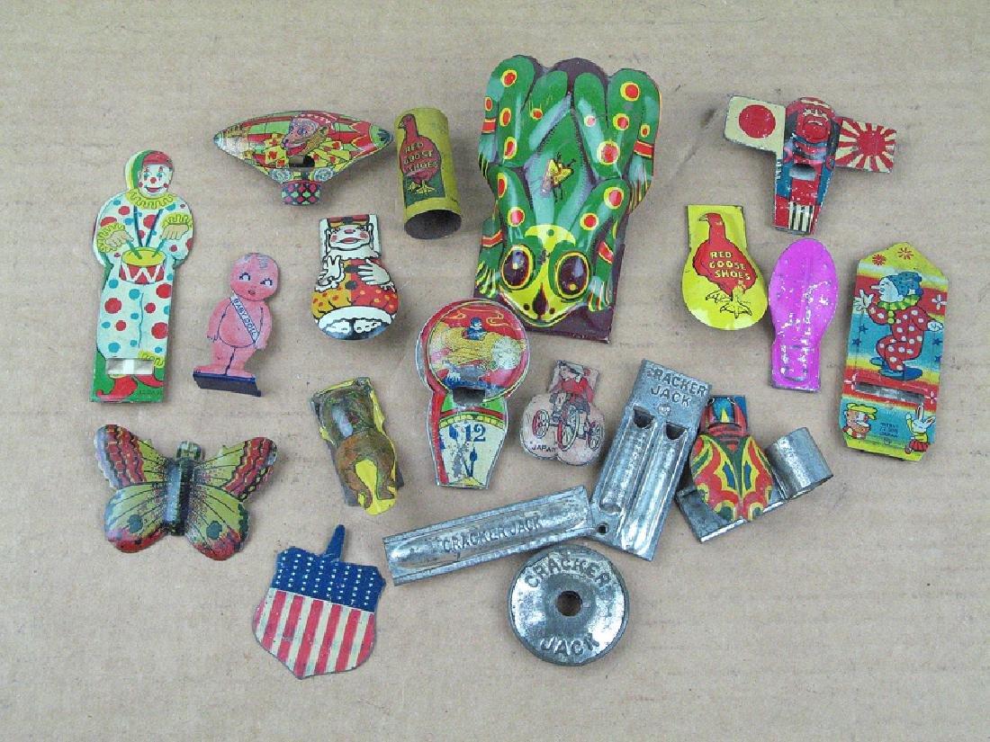 Cracker Jack Adv Clicker Whistle Lot