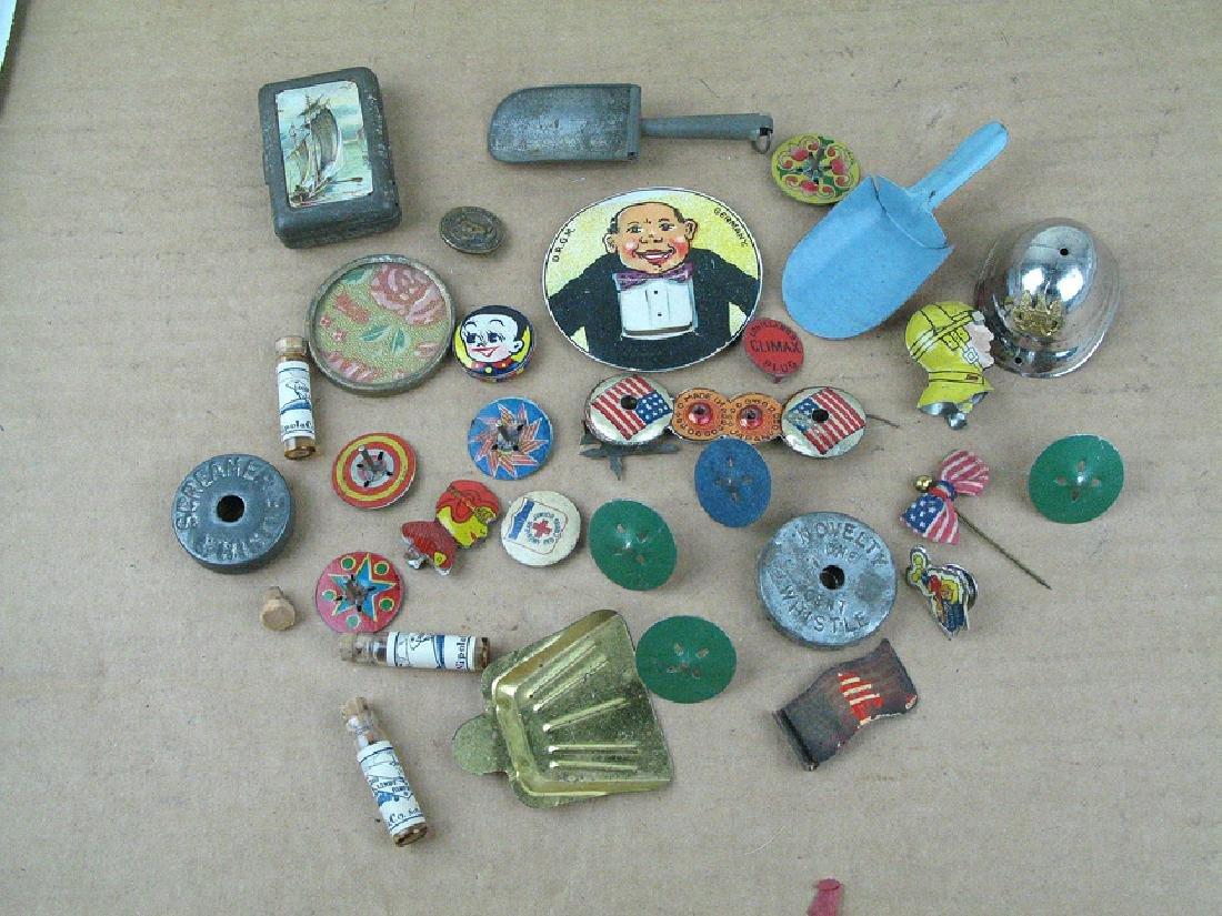 1930s Tin Whistle Novelty Lot German & Marx