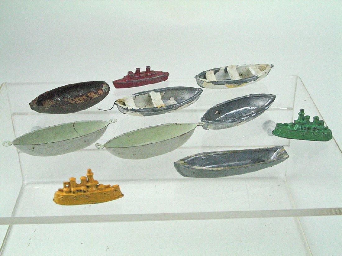German Tin Lifeboat Toy Part Lot