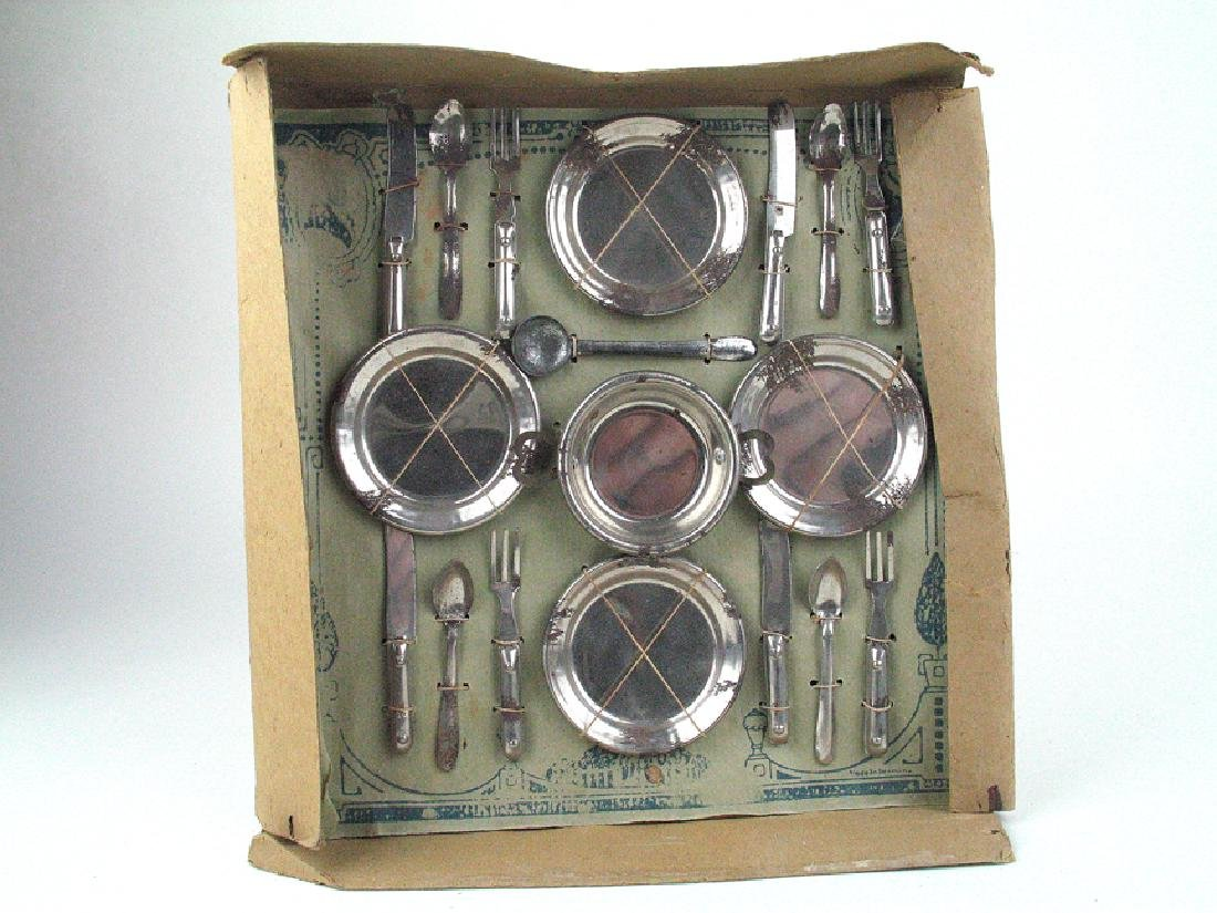 1920's German Tin  Doll House Place Setting Mint