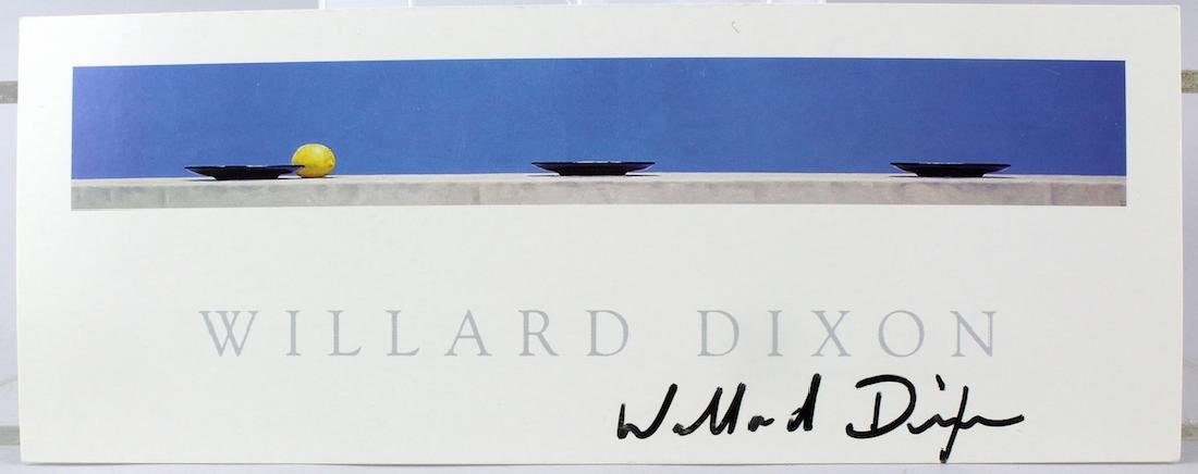 Willard Dixon Artist Signed  Litho Card
