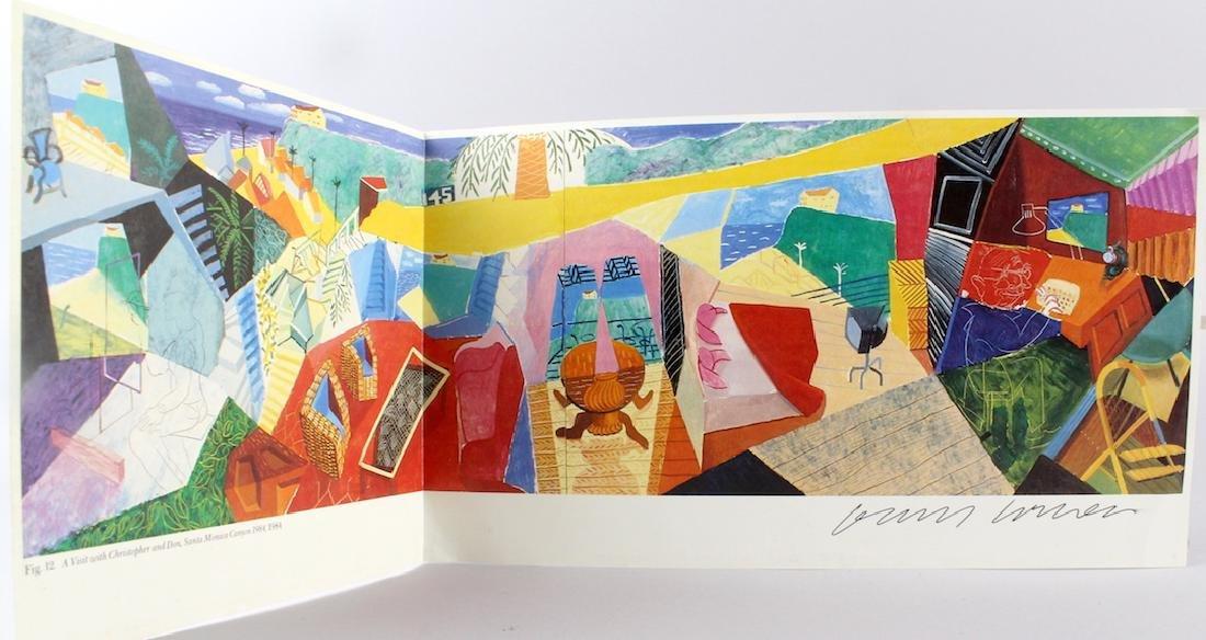 David Hockney Artist Signed Fold Out