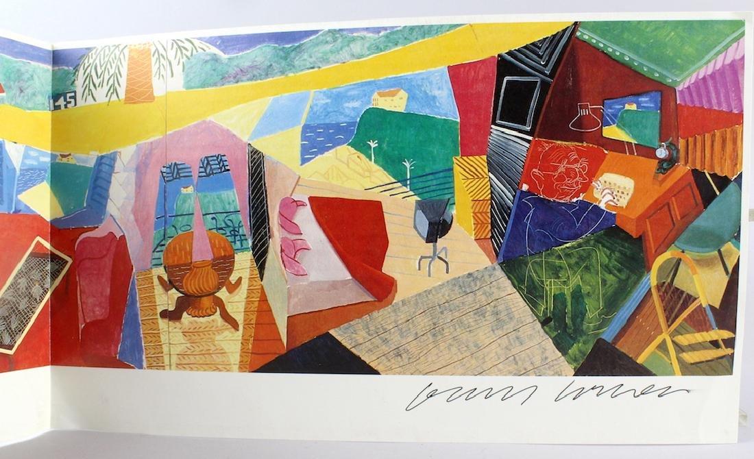 David Hockney Artist Signed Fold Out - 2