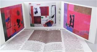 Tsugio Hattori Artist Signed Fold Out Litho