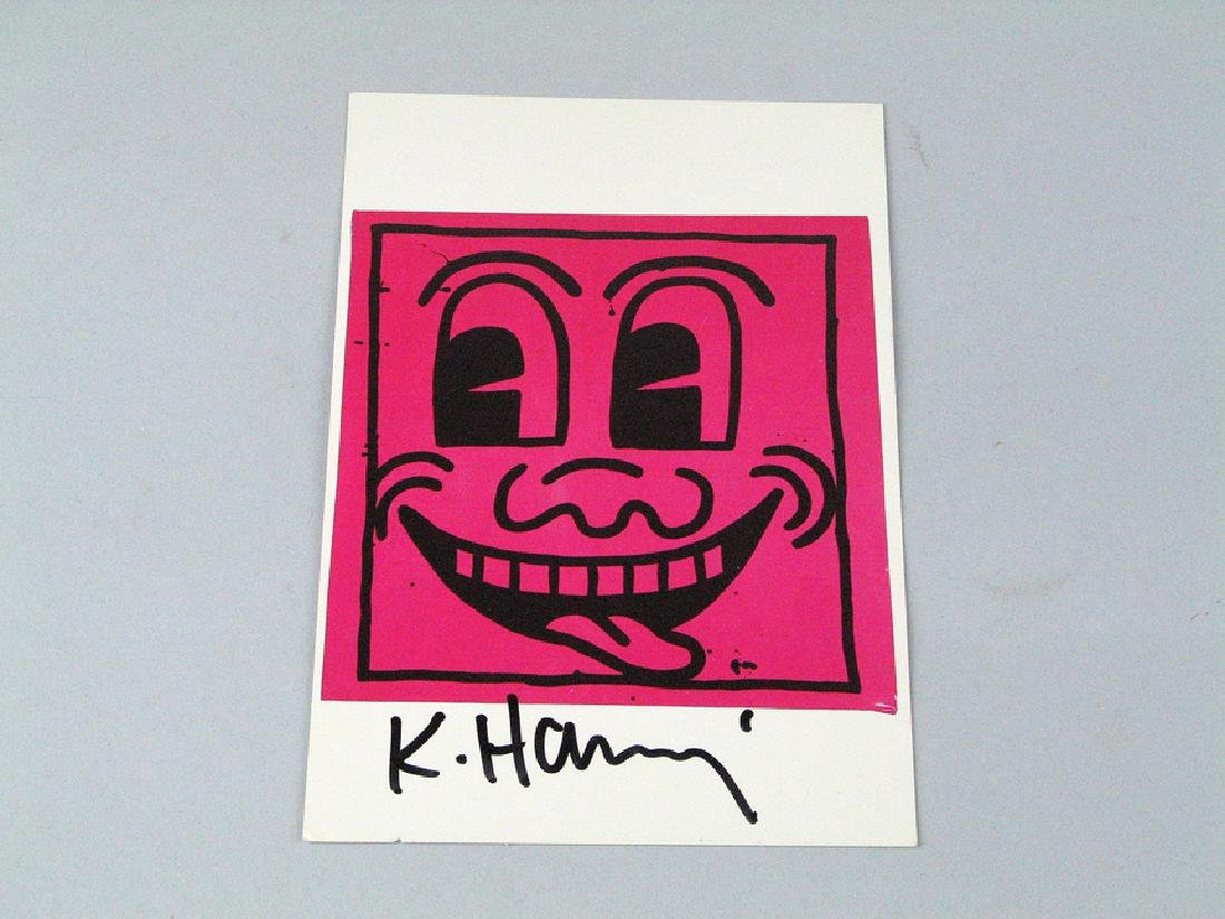 Keith Haring Postcard Signed Boy Howdy