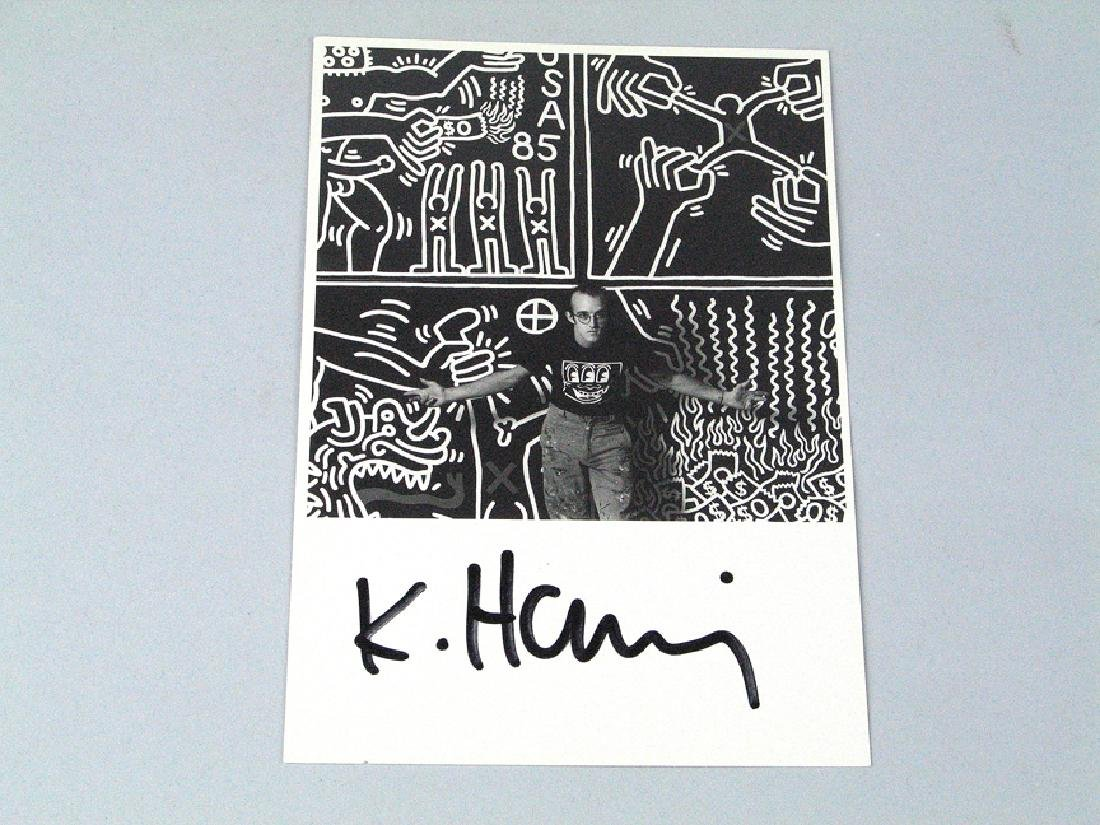 Keith Haring Postcard Signed Photo