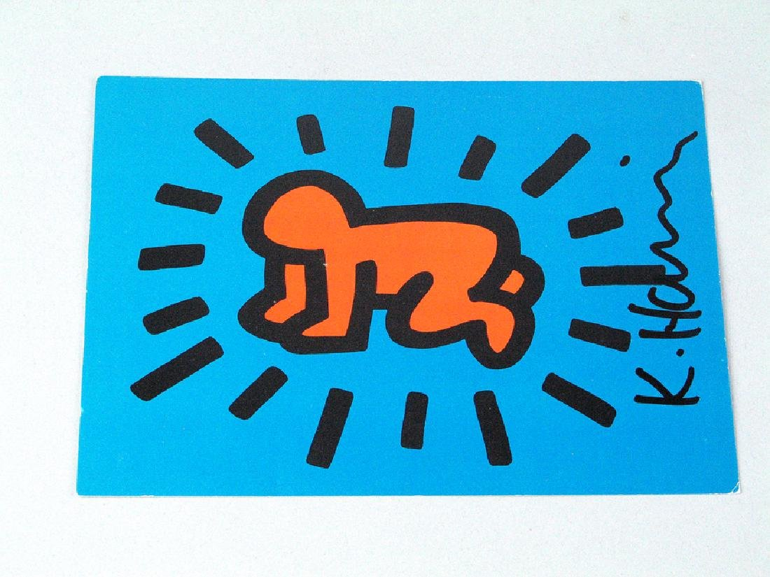Keith Haring Postcard Signed Baby