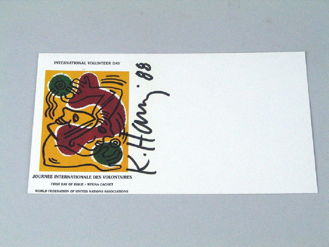 Keith Haring Postcard Signed First Day Card
