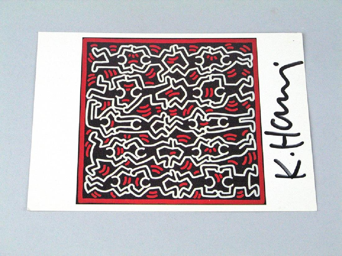 Keith Haring Postcard Signed