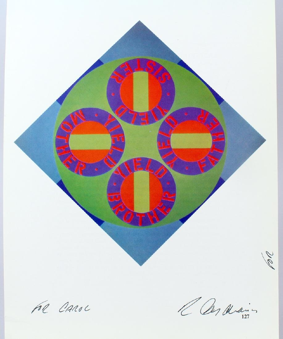 Robert Indiana Artist Signature on Bookplate