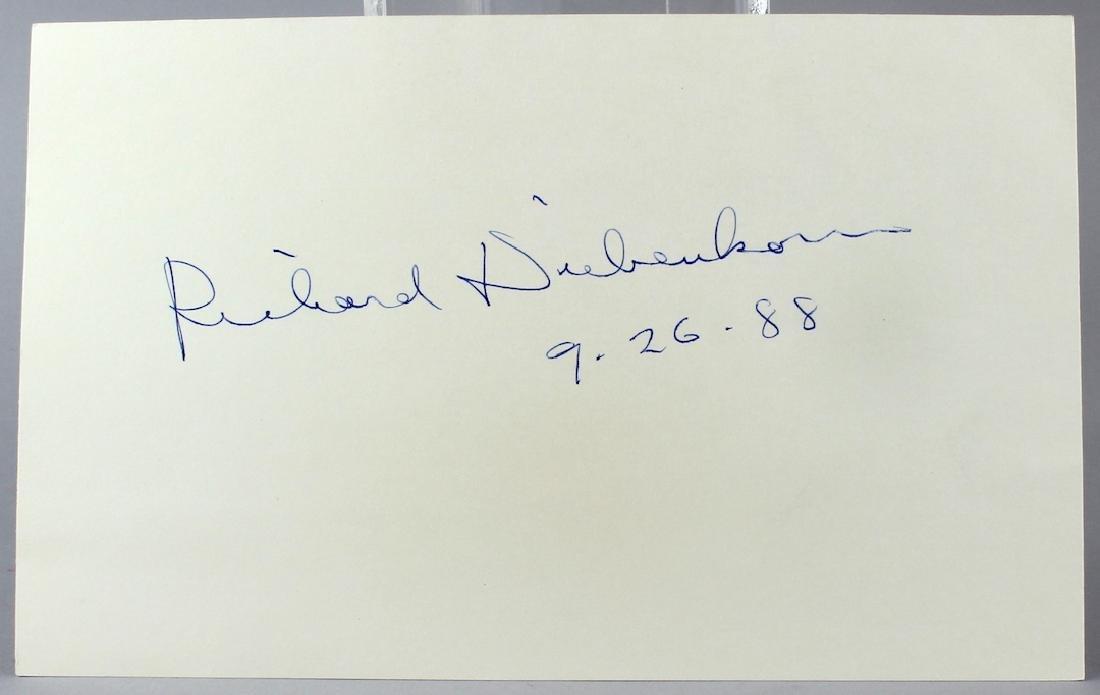 Richard Diebenkorn Aritst Signed Card