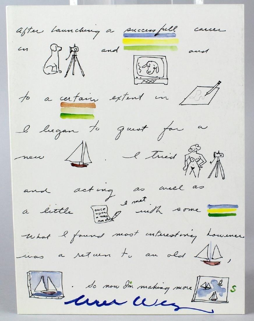William Wegman Artist Signed Gallery Card