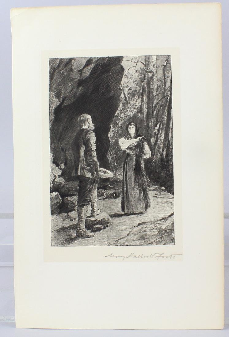 Mary Hallock Foote Signed Engraving