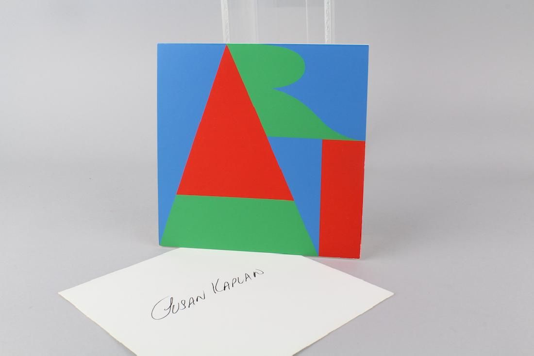 Robert Indiana Artist Signed Personal Card