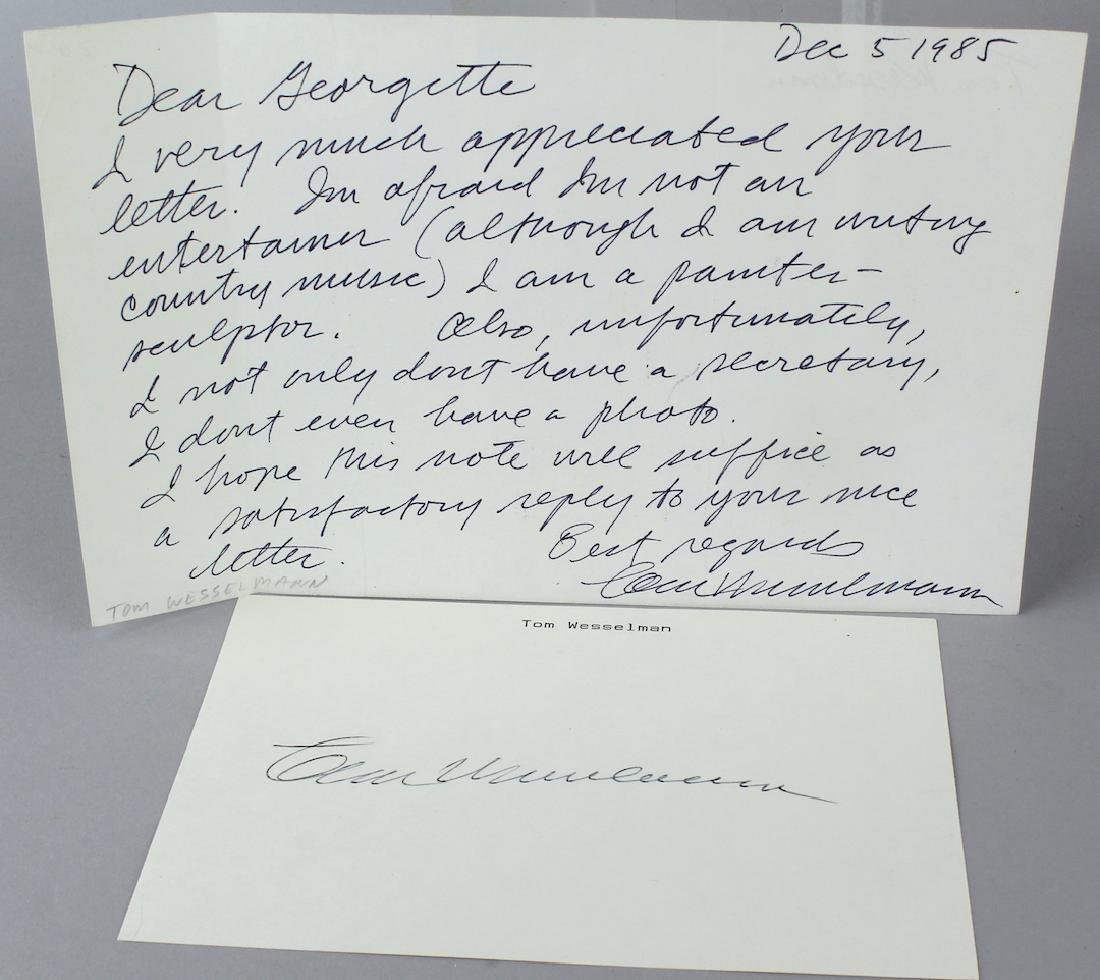 Tom Wesselman Signed Letter to Platts
