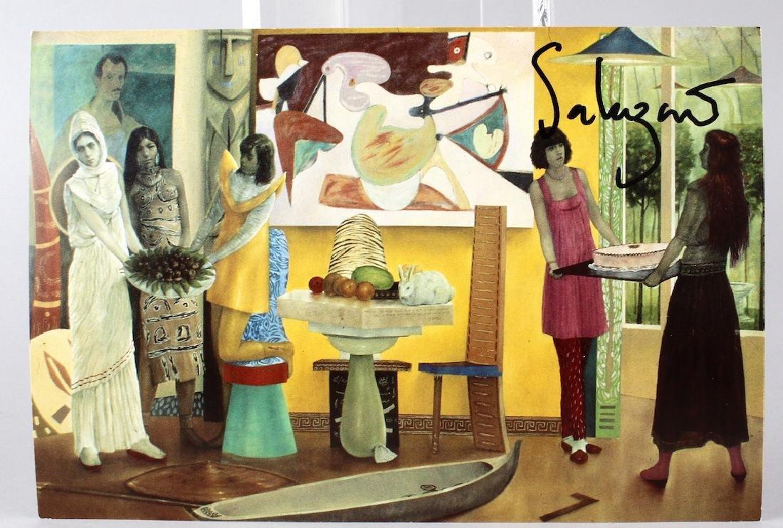 Carlos Salazar Signed Gallery Card