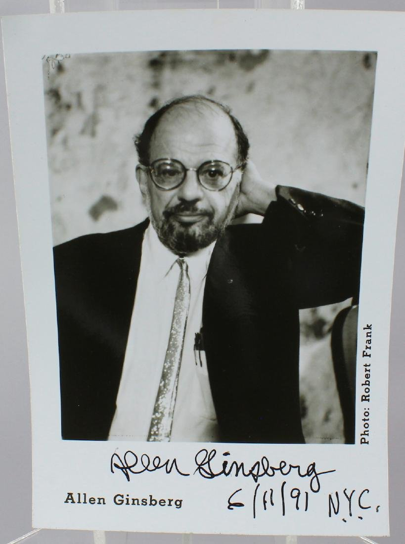 Allen Ginsberg Signed Photograph
