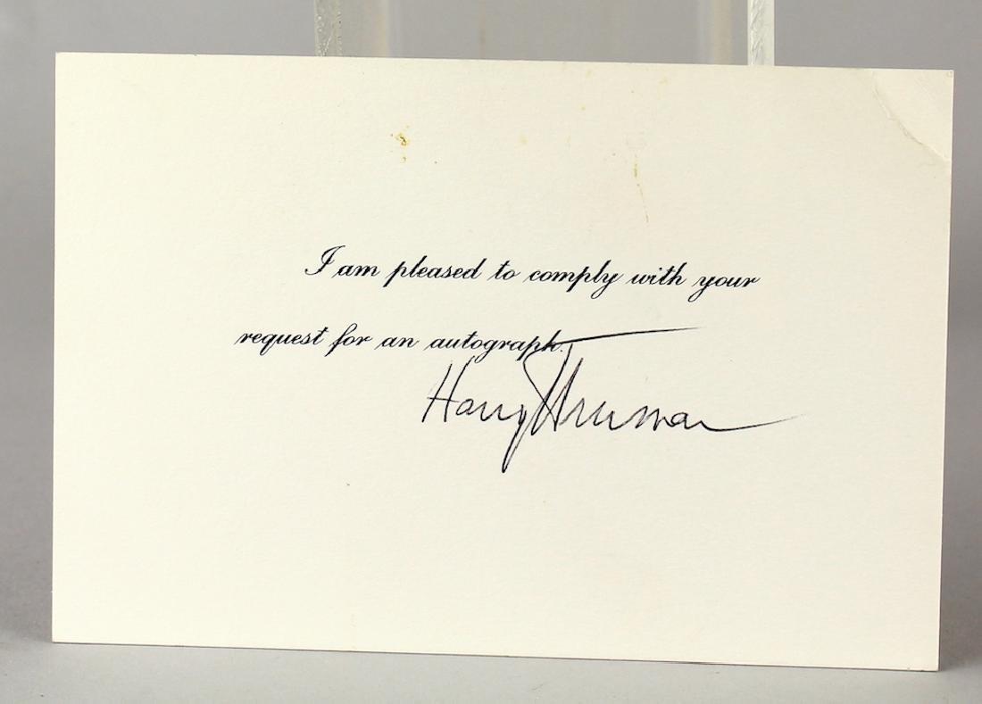 President Harry Truman Autograph