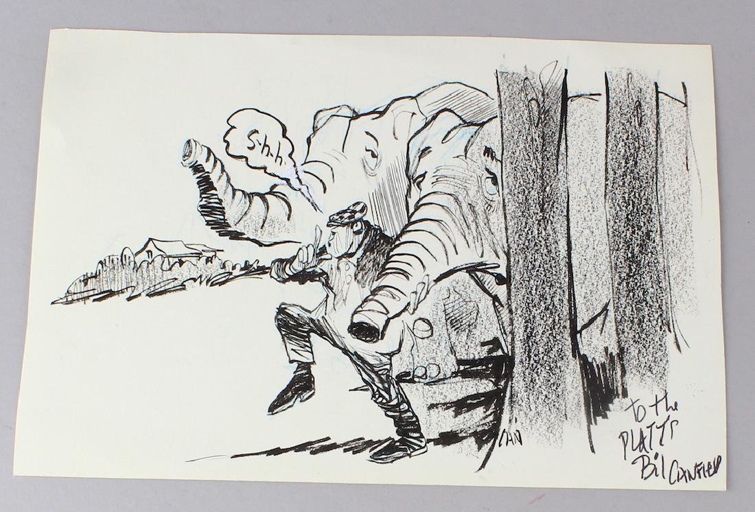 Bil Canfield Drawing Signed