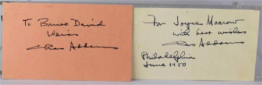 Pair of Charles Addams Autographs 1950