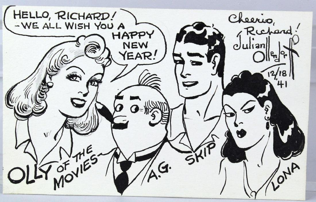 NY Tribune Cartoonist Julian Ollenforff 1941