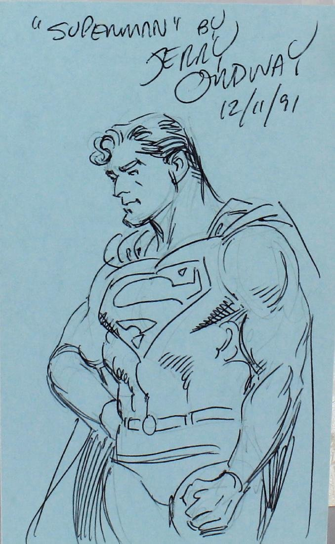 Jerry Ordway Superman Signed Drawing