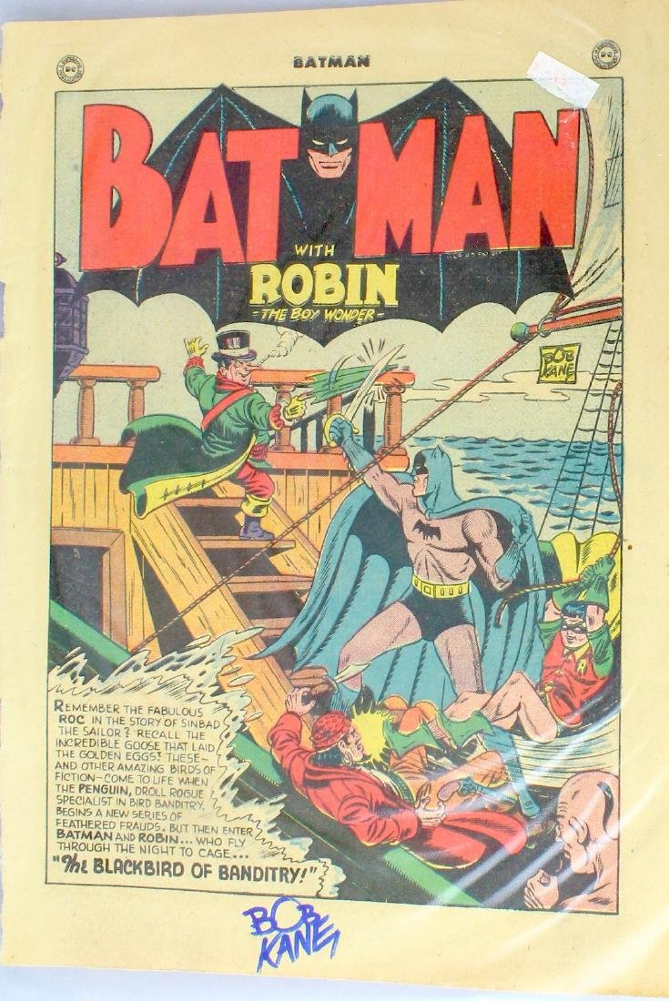 Bob Kane Signed First Page Batman