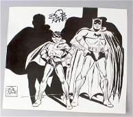 Bob Kane Signed Batman Book Plate