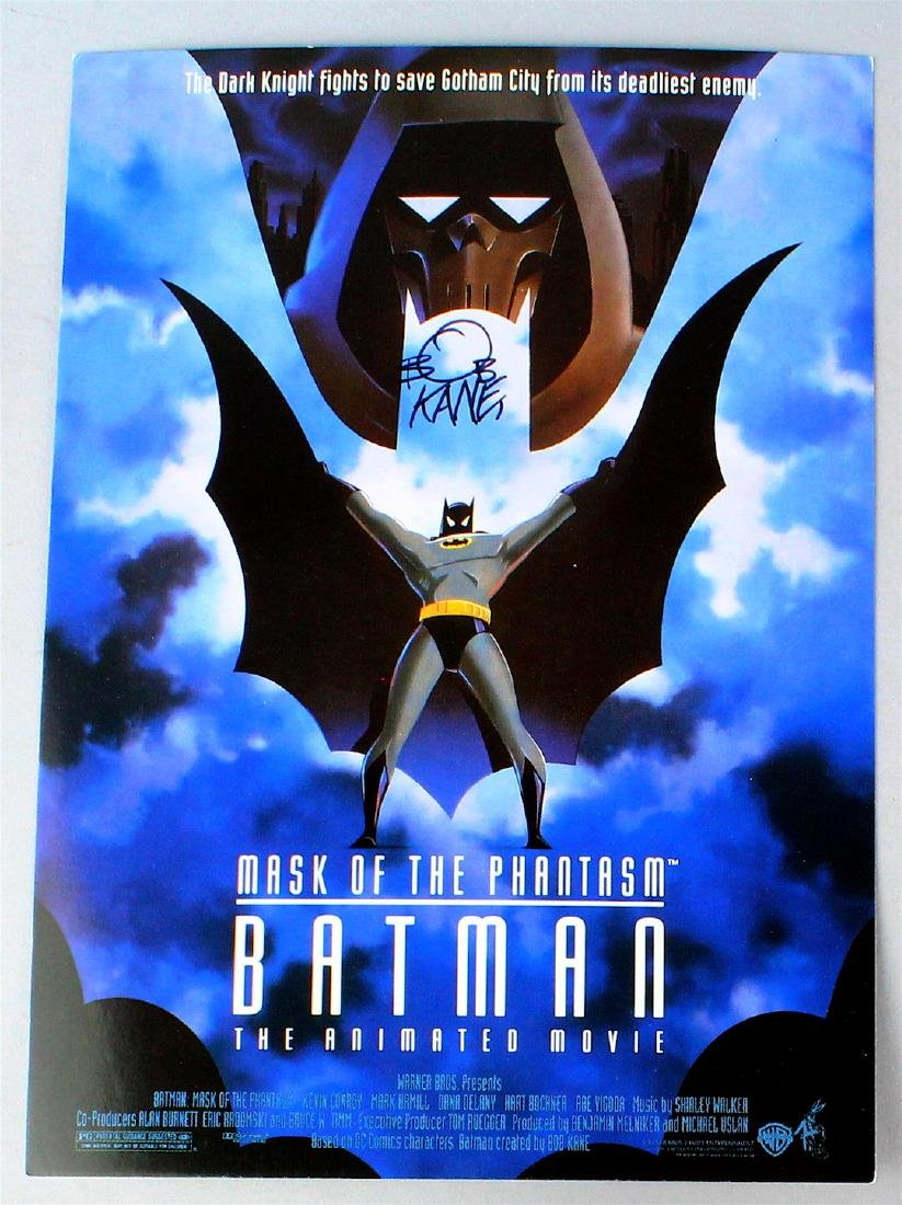 Bob Kane Signed Batman Movie Advert
