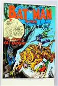 Bob Kane Signed Batman Comic Book Page