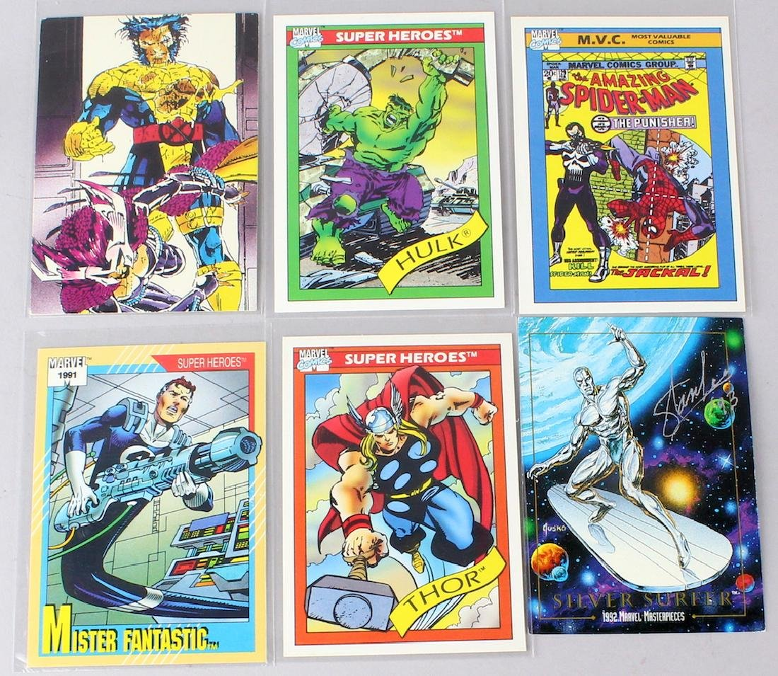 Stan Lee Signed Comic Hero Cards 6
