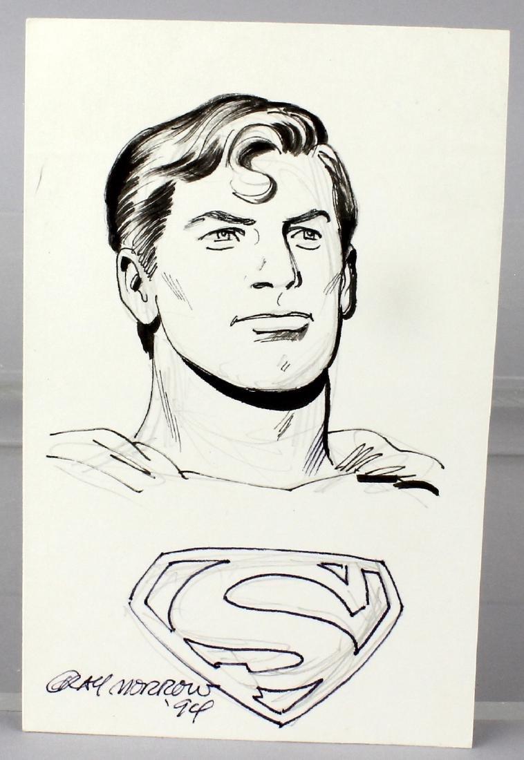 Gray Morrow Superman Signed Drawing DC Comics