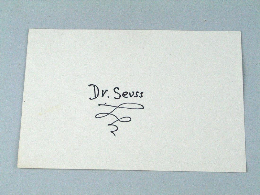 Dr Suess Signed Postcard