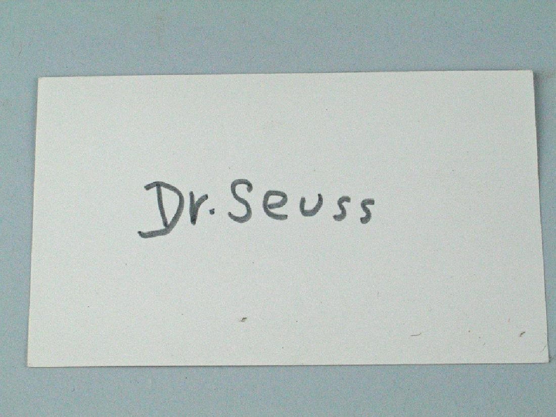 Dr Suess Hand Signed Postcard