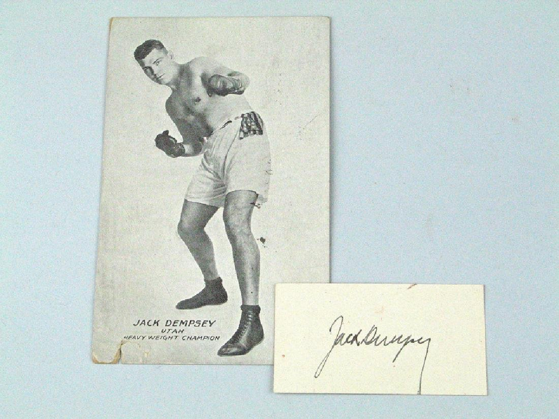 Jack Dempsey Signed Boxer