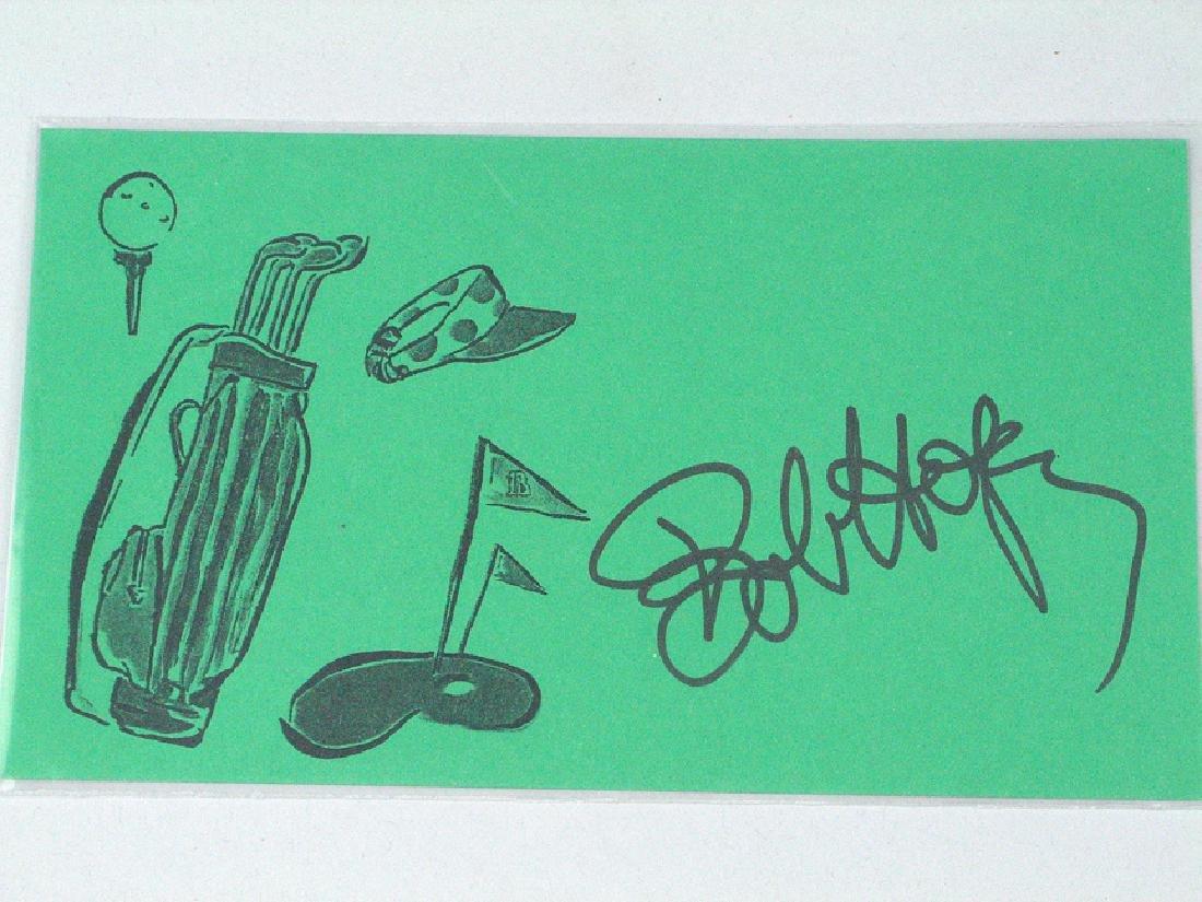 Bob Hope Signed