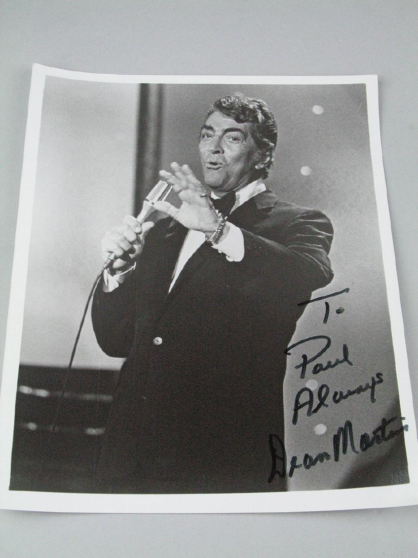 Dean Martin 8 x 11 Signed