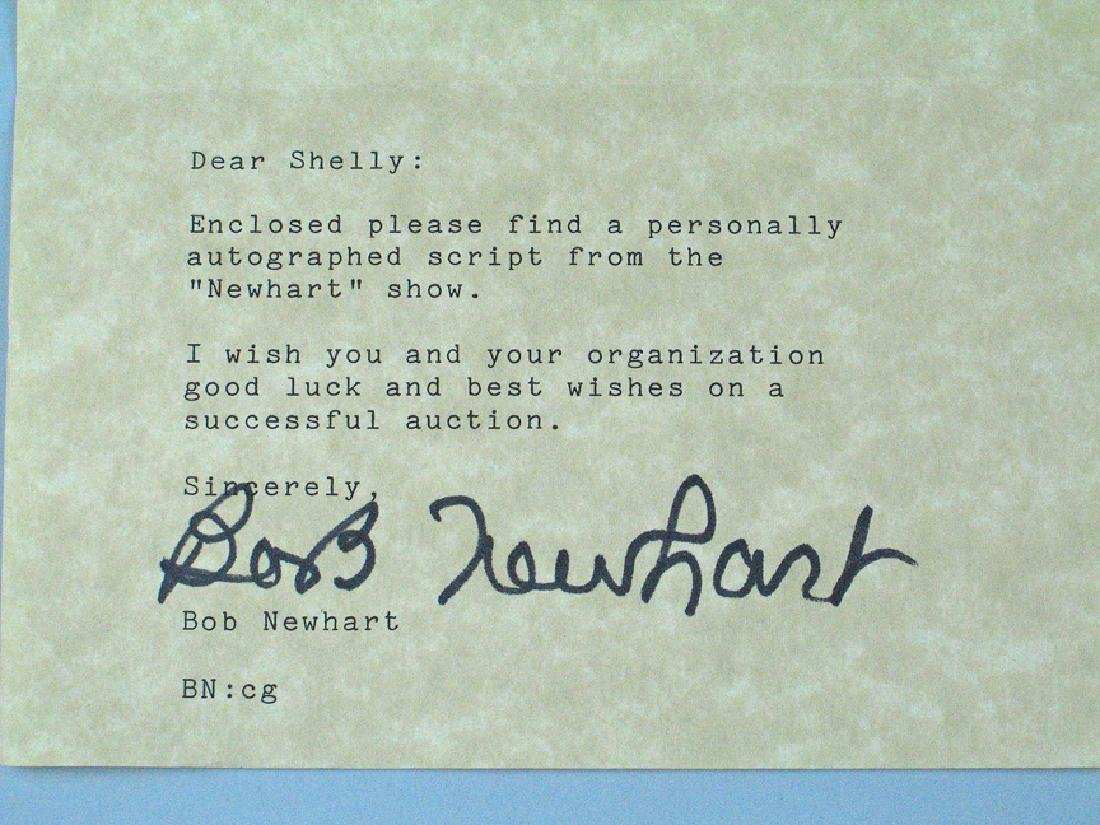 Bob Newhart Personal Stationary Signed