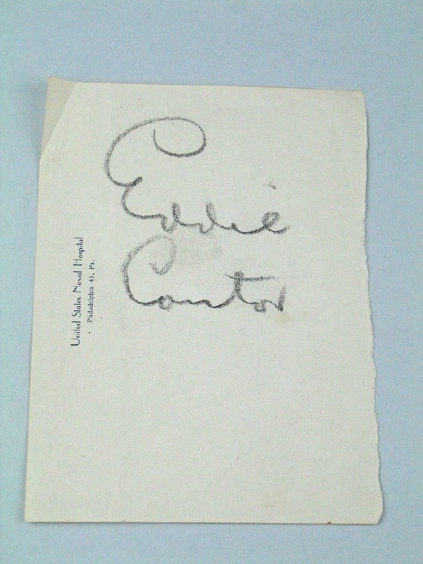 Eddie Cantor Signature