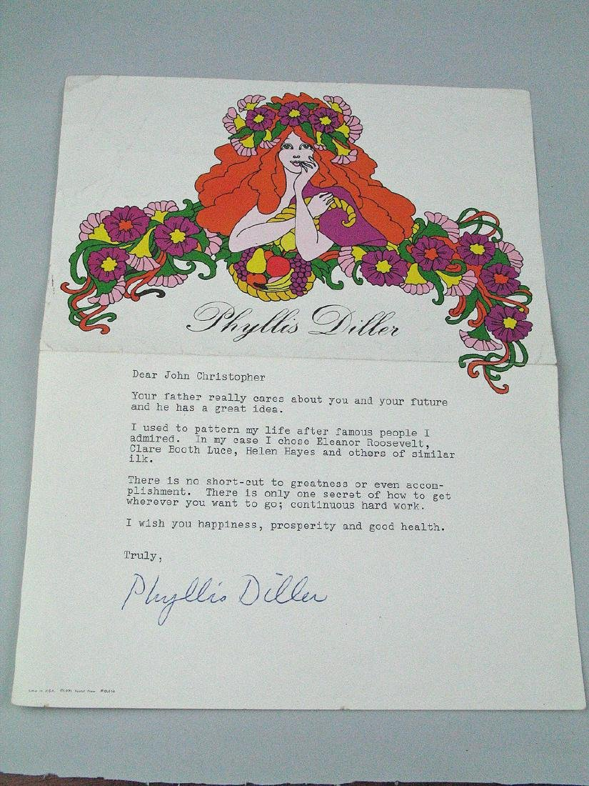 Phylis Diller Signed Stationary