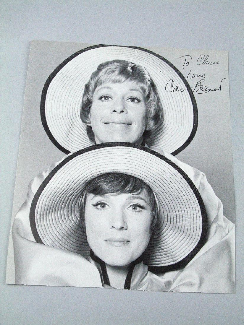 Carol Burnett Signed Magazine Page