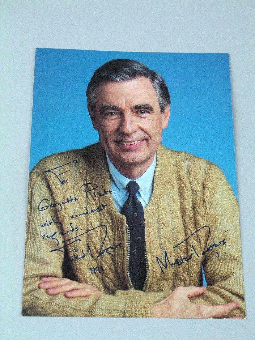 Mister Rogers Signed Photo 7 x 5