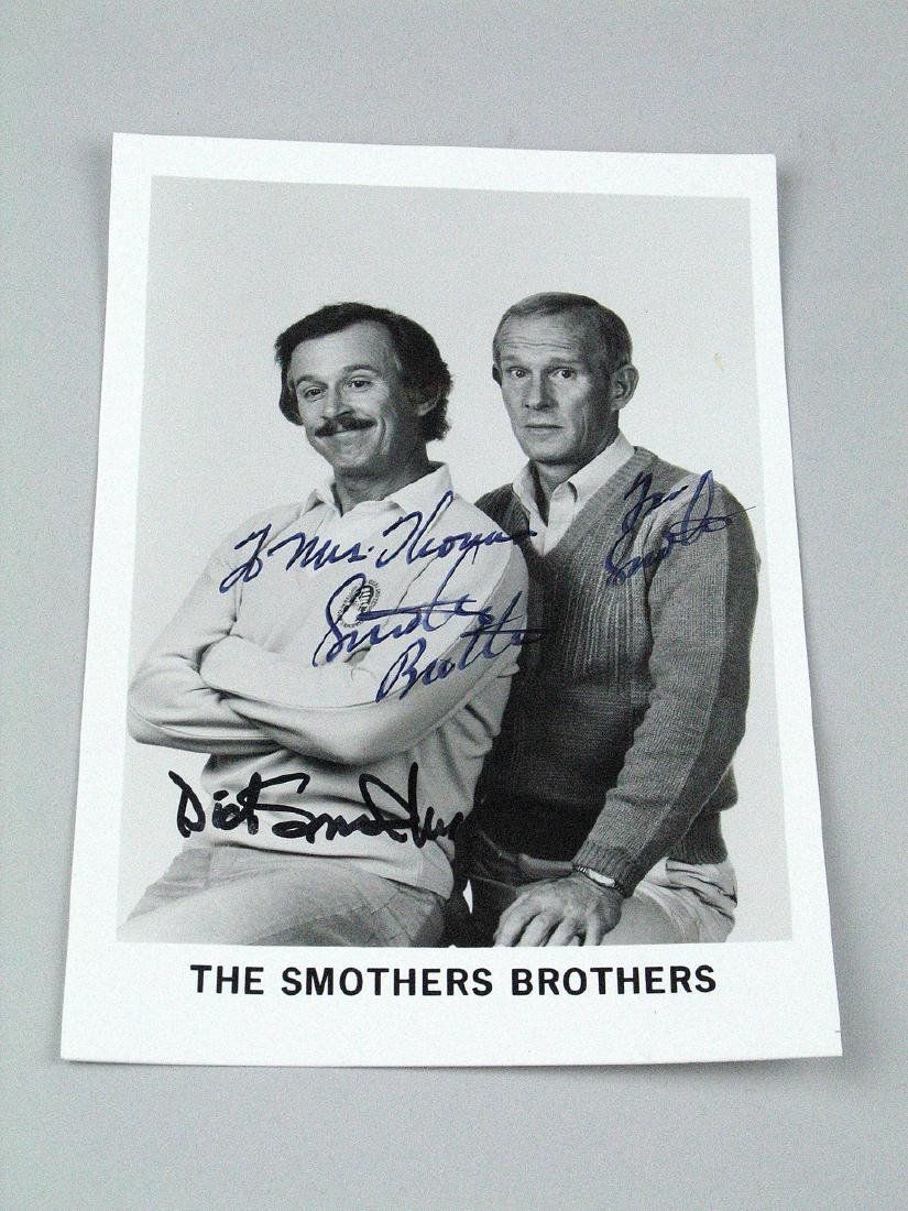 Smothers Brothers Signed 7 x 5